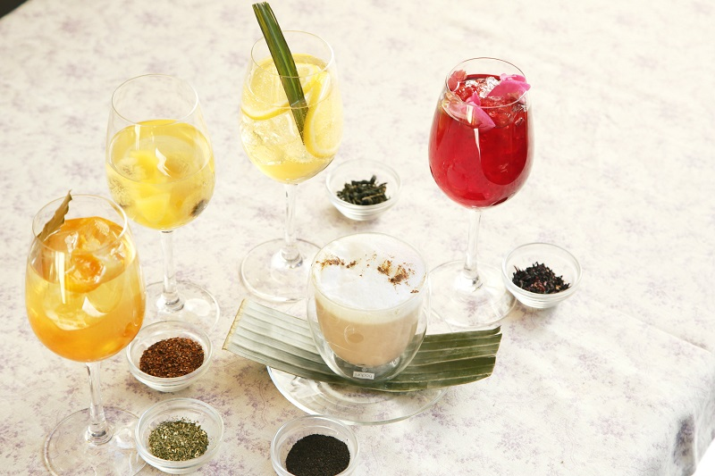alcohole free tea cocktail coci コチ 恵比寿の一軒家でタイ料理