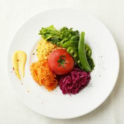 春のクリュディテ~フルーツトマトのコンポートと春野菜の盛り合わせ